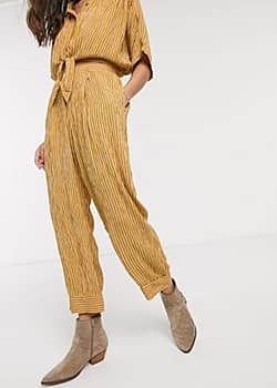 Band of Gypsies Band Of striped trousers in yellow