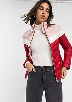 Barbour International aubern colour block quilted jacket-Red