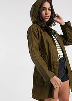 Barbour Maddison wax coat in brown-Beige
