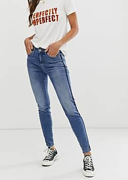 b.Young classic mom jeans-Blue