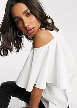 Closet London Closet Cold-shoulder Blouse-White