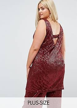 Elvi Allover Premium Sequin Shift Dress With V Back-Red