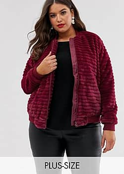 Elvi faux fur stripes bomber jacket-Pink