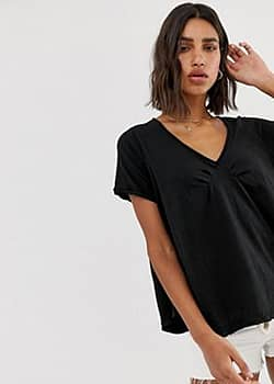 Free People All You Need v-neck t-shirt-Black