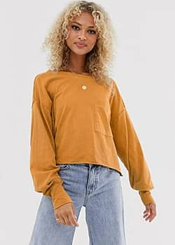 Free People Austin long sleeved t-shirt-Copper