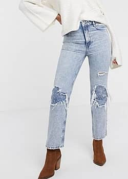 Free People My Own Lane ripped knee bootcut jeans-Navy