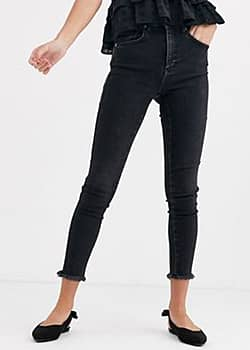 Free People raw high rise jegging-Black