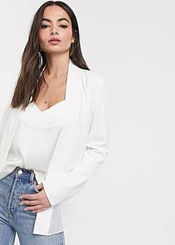 French Connection angeline drape belted jacket-White