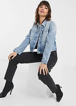 French Connection denim jacket in light blue