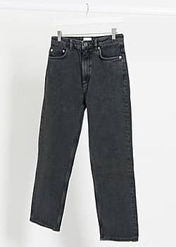 French Connection Lillian ankle grazer straight jeans in black