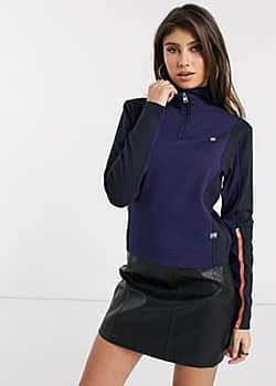G-Star nostelle biker half zip jacket in blue