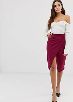 Girl In Mind paperbag waist skirt-Purple