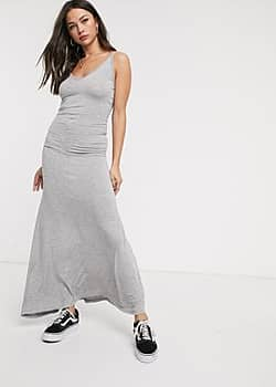 Glamorous jersey maxi dress in grey marl
