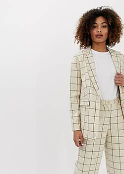 Ichi check suit blazer-Multi