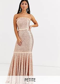 Jarlo bandeau sequin gown in gold