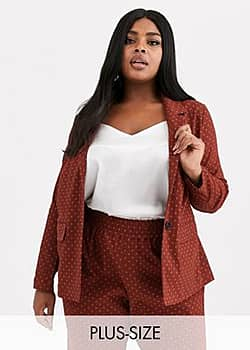 Junarose spotty suit blazer-Brown