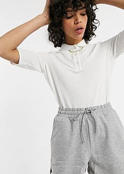 Lacoste pleated blouse in white
