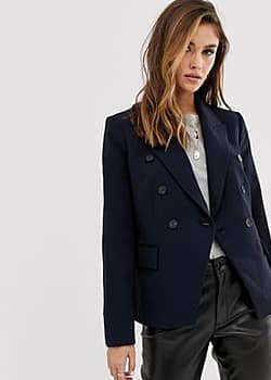 Mango double breasted blazer-Black