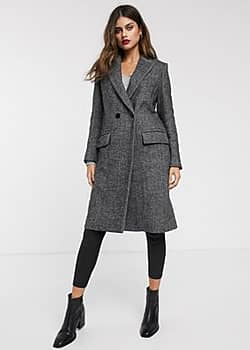 Mango straight coat-Grey