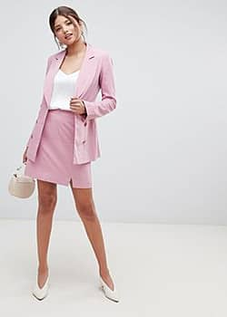 Millie Mackintosh 90's split mini co-ord skirt-Pink
