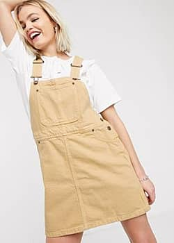 Monki utility pinafore-Tan
