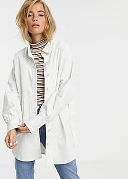Moon River belted cored utility jacket-Cream