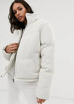 Native Youth high neck padded jacket-Cream