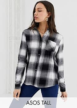New Look check shirt in black pattern