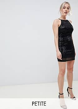 Paper Dolls sequin mini dress in black