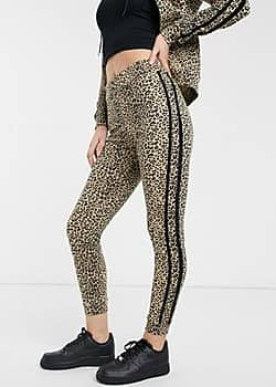 Parisian lounge suit skinny joggers with glitter taping-Brown