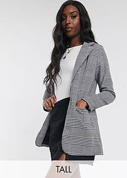 Parisian check tailored blazer-Multi