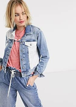 Pepe Jeans Pepe Tess patchwork denim jacket in blue