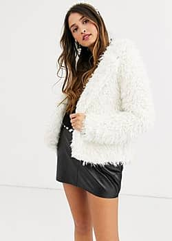 QED London teddy jacket in cream