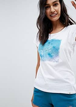 Rip Curl Rip Curl Eco Pacific Ombre Beach T-Shirt in Organic Cotton-Blue