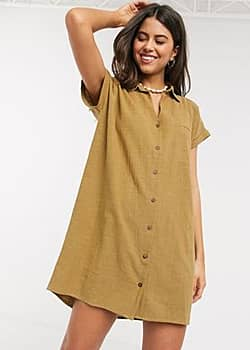 Rip Curl Rip Curl The Adrift cotton dress in caramel-Brown