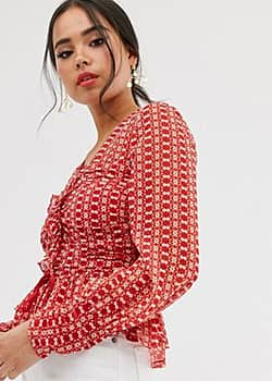 Stevie May sunny afternoon ruched top-Red