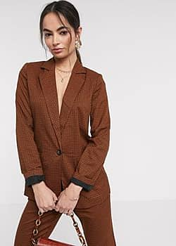 Vila suit blazer in brown