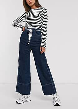 Weekday Slack Harbour wide leg jeans in blue