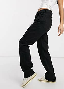 Weekday Voyage straight leg jeans in black