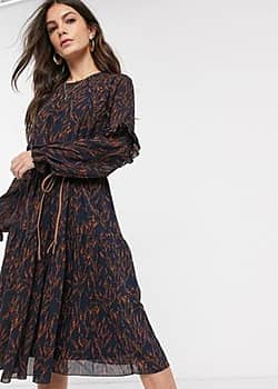 Y.A.S long sleeve midi dress-Blue