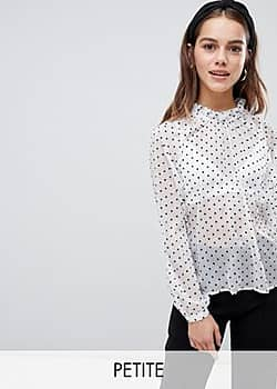 Y.A.S polka dot spot sheer high neck blouse-Multi