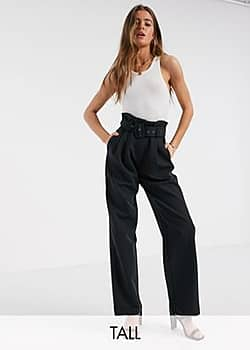 Y.A.S Dinah high waisted belted trousers-Black