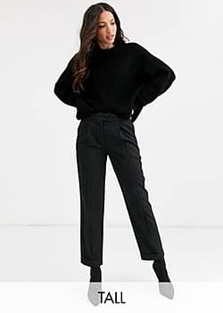 Y.A.S Savi crop tailolred trousers-Black
